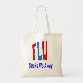 La gripe chupa bolsos y los totes de la vida lejos bolsas lienzo