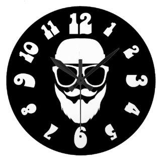 La Groovster Black Large Clock