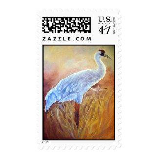 La grúa que chilla sello postal