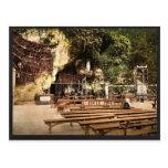 La gruta de Notre Dame, Lourdes, los Pirineos, fra Postal