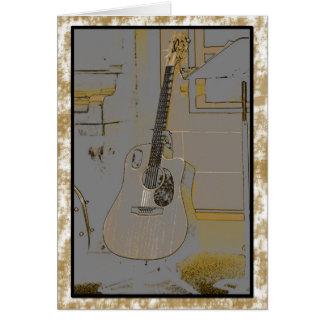 La guarida del músico tarjeta de felicitación