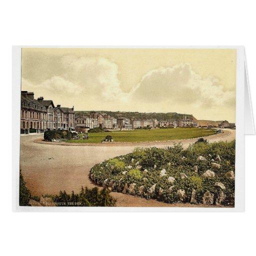 La guarida, Teignmouth, obra clásica Photochrom de Tarjeton