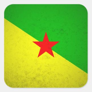 La Guayana Francesa Pegatina Cuadrada