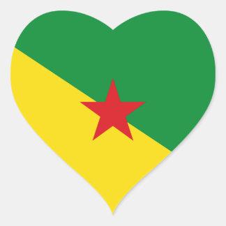 la Guayana Francesa Pegatina En Forma De Corazón