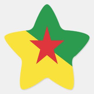 LA GUAYANA FRANCESA PEGATINA EN FORMA DE ESTRELLA
