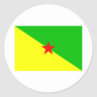 La Guayana Francesa Pegatina Redonda