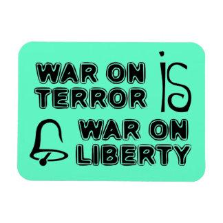 La guerra antiterrorista es guerra en libertad imanes rectangulares