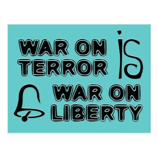 La guerra antiterrorista es guerra en libertad tarjetas postales