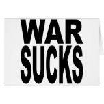 La guerra chupa felicitación