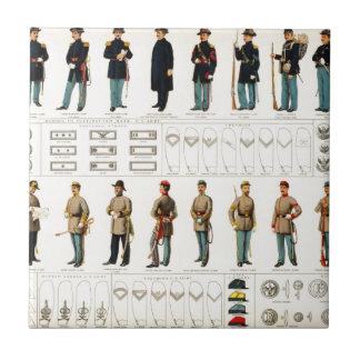 La guerra civil de Bien uniforma (1895) Azulejo Cuadrado Pequeño