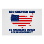 La guerra creada dios así que los americanos apren posters