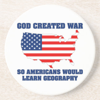 La guerra creada dios así que los americanos apren posavasos cerveza