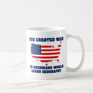 La guerra creada dios así que los americanos apren tazas de café