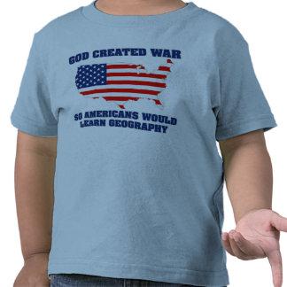 La guerra creada dios así que los americanos camisetas