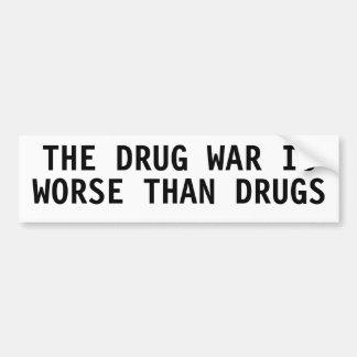 LA GUERRA DE DROGA ES PEOR QUE LAS DROGAS ETIQUETA DE PARACHOQUE