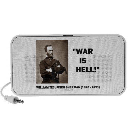 La guerra de Guillermo TECUMSEH Sherman es cita de Altavoz De Viaje