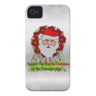 La guerra de Santa en Navidad Case-Mate iPhone 4 Protectores