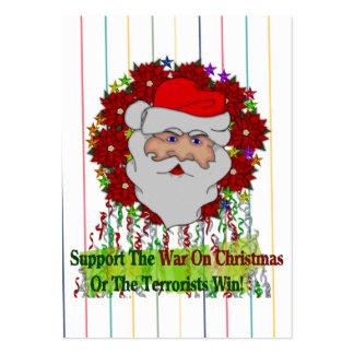 La guerra de Santa en Navidad Tarjetas De Visita Grandes