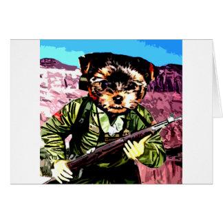 La guerra del perrito tarjeta de felicitación