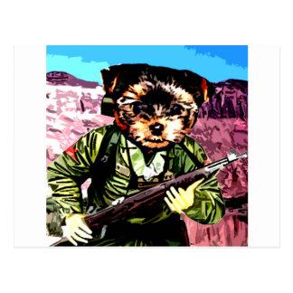 La guerra del perrito tarjeta postal