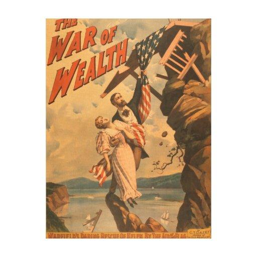 La guerra del poster de teatro de la riqueza impresiones en lona