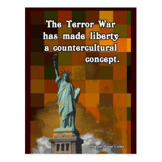 La guerra del terror y la libertad Countercultural Postal