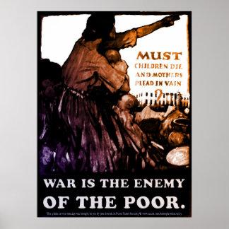 La guerra es el enemigo póster