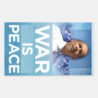 La guerra es pegatina de Obama de la paz