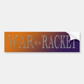 La guerra es una estafa - guerra anti - púrpura an etiqueta de parachoque