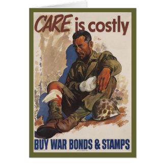 La guerra es WWII costoso Tarjeta De Felicitación