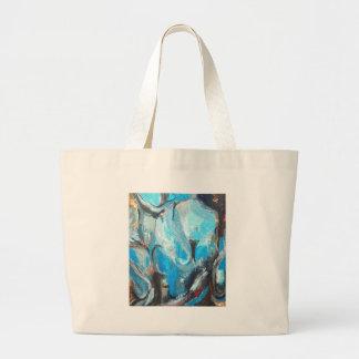 La guerra espiritual (expresionismo abstracto) bolsas lienzo