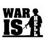 La guerra está infierno postal