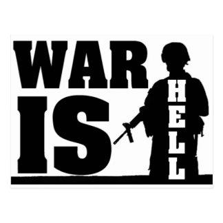 La guerra está infierno tarjetas postales