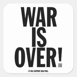 La guerra está sobre sistema del pegatina