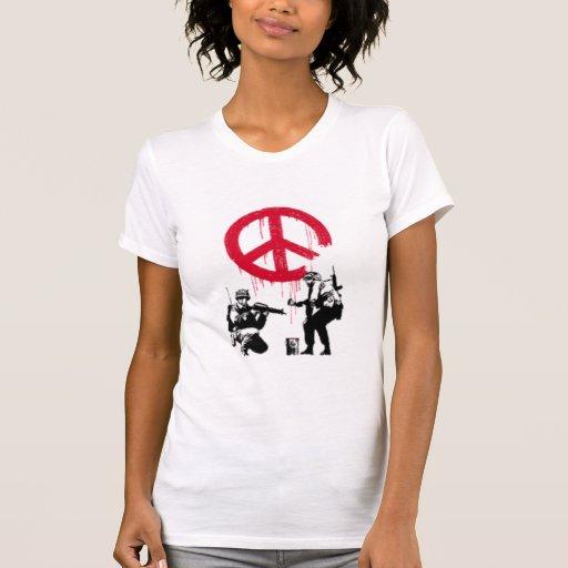 La guerra ha terminado - el T de las mujeres Camiseta