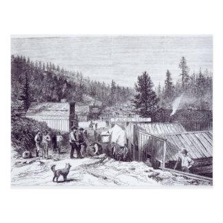 La guerra india, ciudad de Deadwood Tarjeta Postal