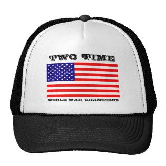 La guerra mundial de dos veces defiende el gorra
