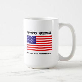 La guerra mundial de dos veces defiende la taza