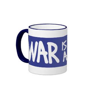 La guerra no es la respuesta taza de dos colores