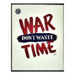 La guerra no pierde tiempo tarjeton