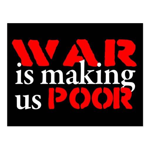 La guerra nos está haciendo la postal pobre
