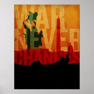 La guerra nunca cambia póster