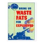 La guerra retra del kitsch del vintage nos trae postal