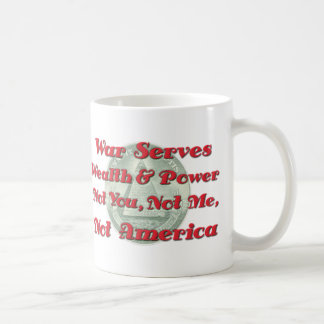 La guerra sirve riqueza tazas de café