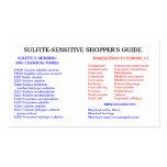 La guía del comprador Sulfito-Libre Tarjetas De Visita