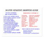 La guía del comprador Sulfito-Libre - tarjeta rech Tarjetas De Visita