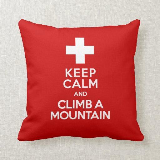La guía suiza de la montaña divertida guarda calma almohadas