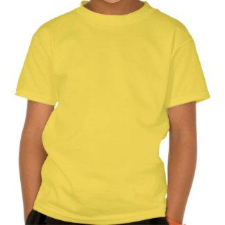 La guinga amarilla de la flor de lis embroma la t-shirts