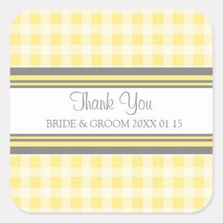 La guinga gris del limón le agradece las etiquetas pegatina cuadrada