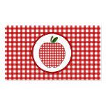 La guinga roja Apple forma la tarjeta de visita de